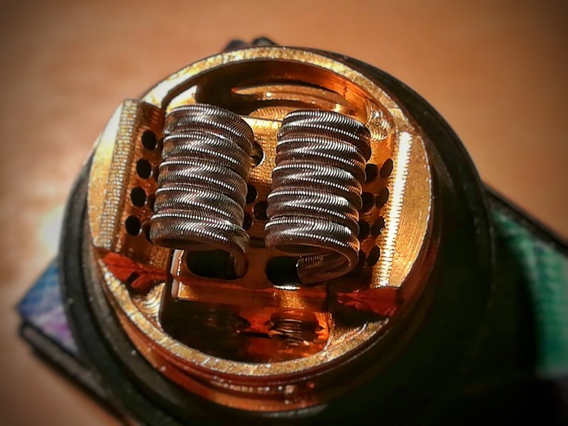 wick or vape coil of a dry herb vaporizer